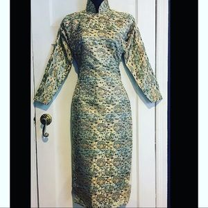 Vintage Dresses - Vintage Geisha Fitted Midi Dress